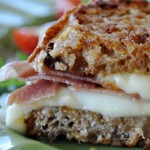 Grilled Cheese Sandwich with Prosciutto, Fig Jam & Fresh Mozzarella