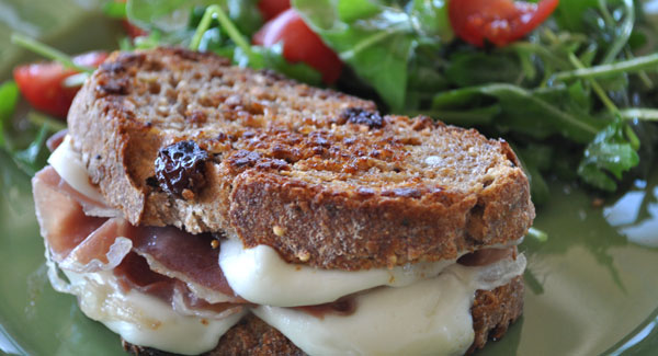 Grilled Cheese Sandwich with Prosciutto, Fig Jam & Fresh Mozzarella ...