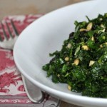 Kale Salad with Currants, Pine Nuts & Parmesan