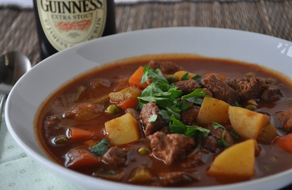 Irish beef stew made with Guinness is a pub classic, but Guinness loses a lot of its already-mild roasted flavor during the time it takes to cook a stew. This version fixes that by reinforcing the beer's flavors.