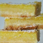 Meyer Lemon Bars with a Coconut Crust