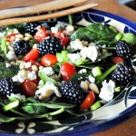 Spinach Salad with Blackberries and Balsamic Dressing