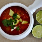 Mexican Vegetable Soup with Lentils and Rice