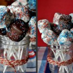 4th of July Chocolate Covered Marshmallows