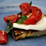 Grilled Crostini with Garlic Marinated Tomatoes