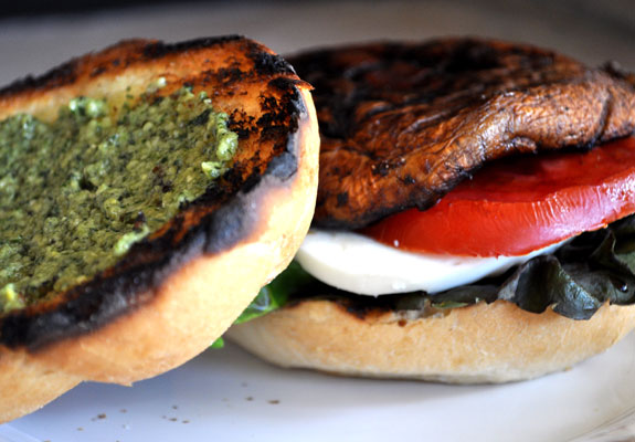 Grilled Portabello Mushroom Burgers - Mountain Mama Cooks