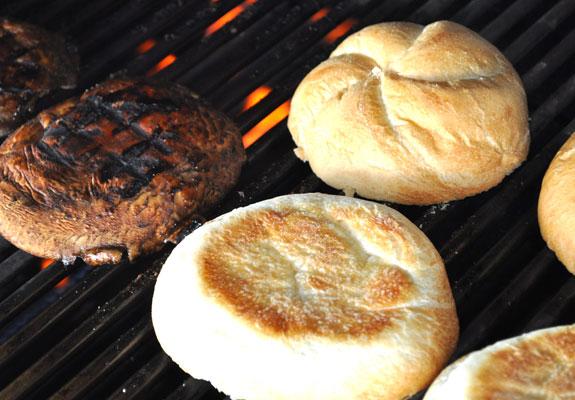 mushroom-caprese-burger-grill