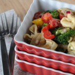 Vegetable Tortellini Salad with Balsamic and Dill