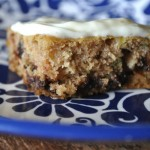 Chocolate Chip Zucchini Bars with Lemon Cream Cheese Icing