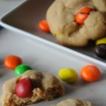Peanut Butter Cookies with Peanut Butter M&M Candies