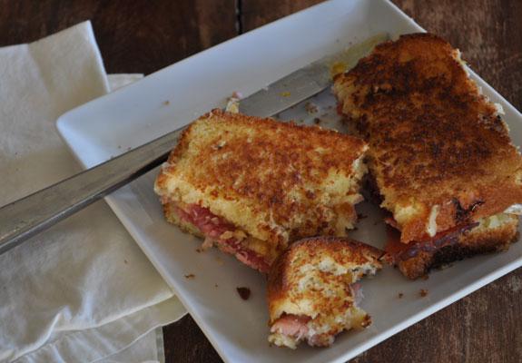 Grilled Leftover Ham Sandwich 5
