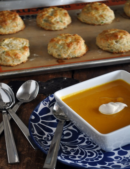 Butternut Squash Soup with Sage & Nutmeg Creme Fraiche - Mountain Mama ...
