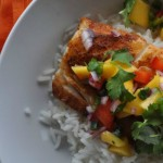 Blackened Cod with Mango Salsa