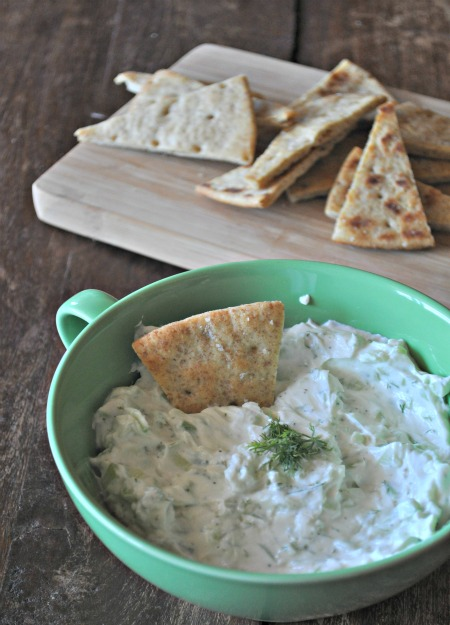 Cucumber Yogurt Dip with Cucumber and Dill