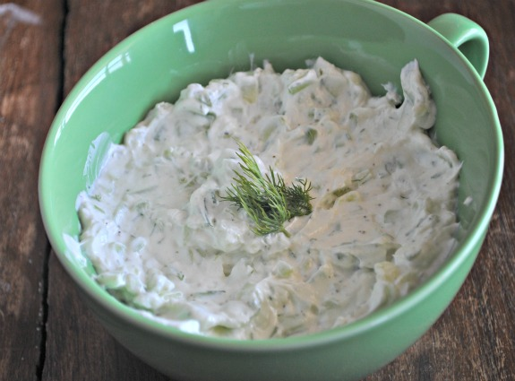 Cucumber Yogurt Dip with Cucumber and Dill