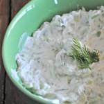Cucumber-Yogurt Dip with Dill & Lemon