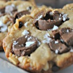 Salted Peanut Butter Rolo Cookies