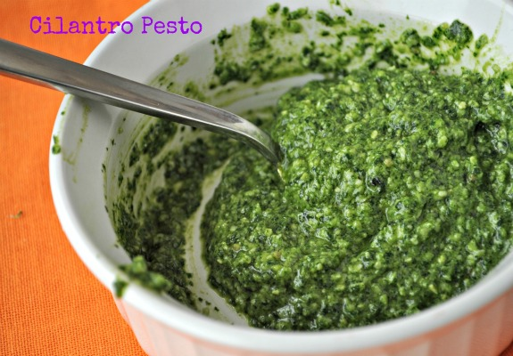 Cilantro Pesto Recipe from Mountain Mama Cooks