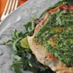 Pan Seared Chicken with Cilantro Pesto