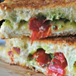 Grilled Cheese with Spicy Havarti, Cilantro Pesto & Roast Tomatoes