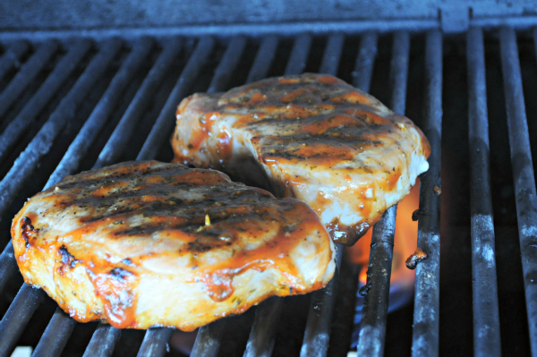 Grilling Pork Chops with Cilantro-Orange BBQ Sauce, Mountain Mama Cooks