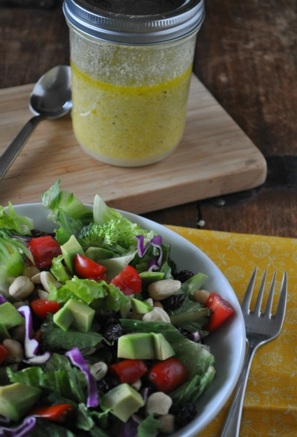 Lemon-Parmesan Dressing via Mountain Mama Cooks