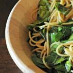 Sesame Noodles + Mustard Greens
