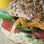 Veggie Bagel Sandwich