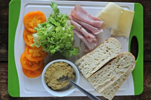 Ham & Swiss Sandwich, Mountain Mama Cooks