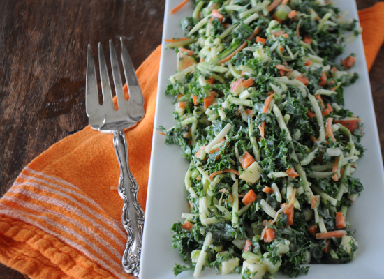 Fall Kale Salad, www.mountainmamacooks.com