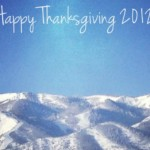 Giving Thanks 2012