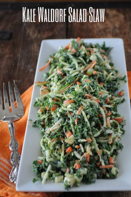 Kale Waldorf Salad Slaw, www.mountainmamacooks.com