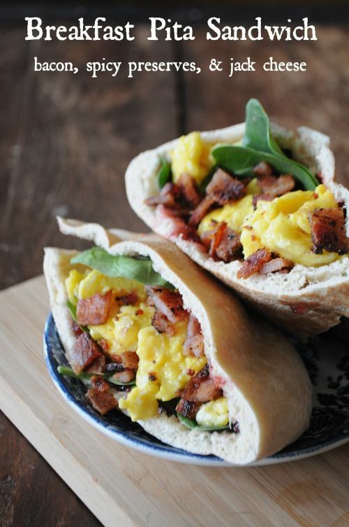 Breakfast Pita Sandwich, www.mountainmamacoks.com
