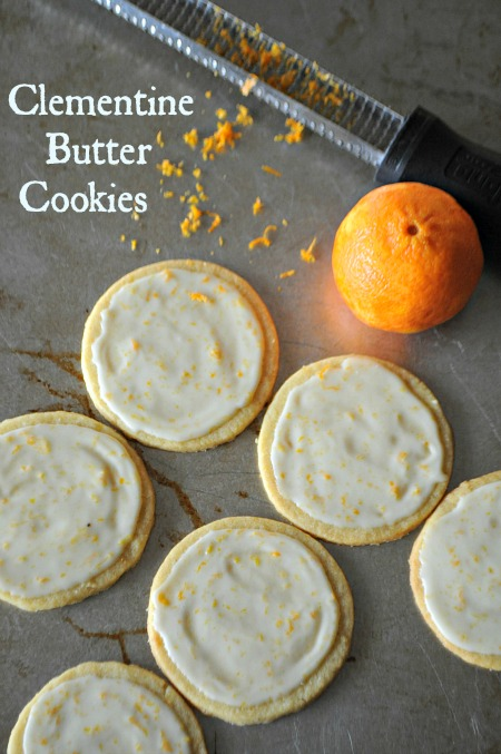 Clementine Butter Cookies with Grand Marnier Glaze
