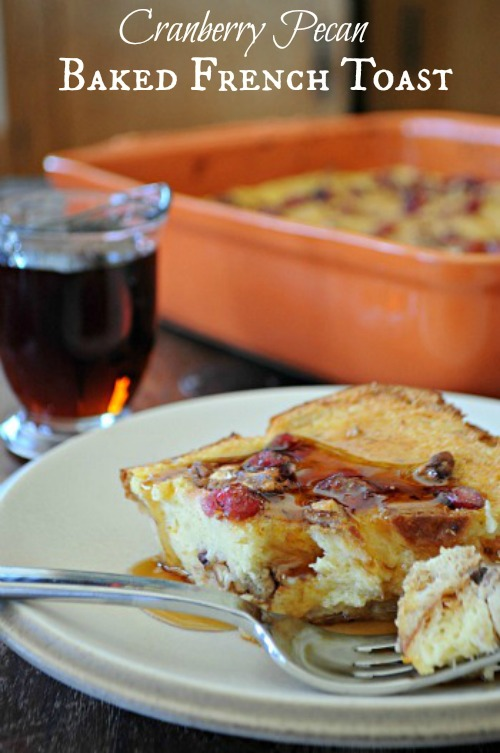 Cranberry Orange French Toast Casserole, www.mountainmamacooks.com