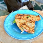 Ham, Apple & Swiss Quesadilla