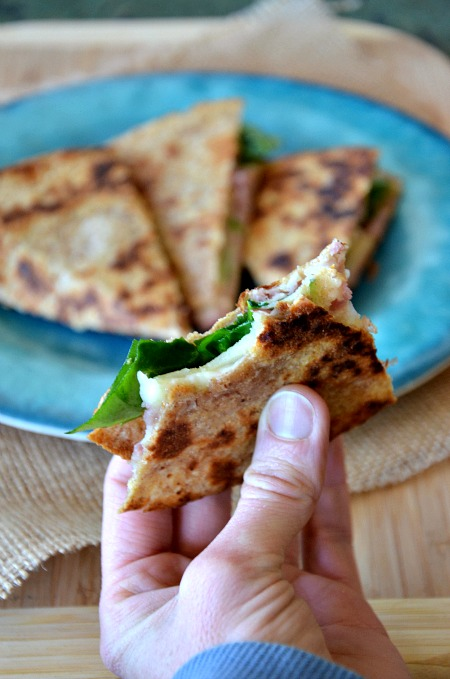 ... to fall and football turkey apple swiss lunchtime quesadilla recipe