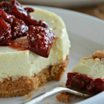 Individual Cheesecakes with Balsamic Roasted Strawberries