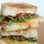 Crispy Prosciutto & Melon Grilled Cheese Sandwich