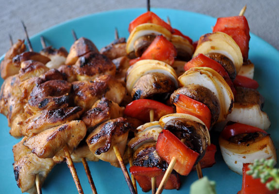 Quick-Grilled-Chicken-and-Vegetable-Kabobs