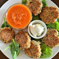Parmesan Quinoa Cakes, www.mountainmamacooks.com