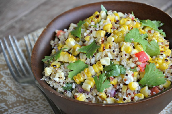 Grilled Corn and Quinoa Salad, www.mountainmamacooks.com