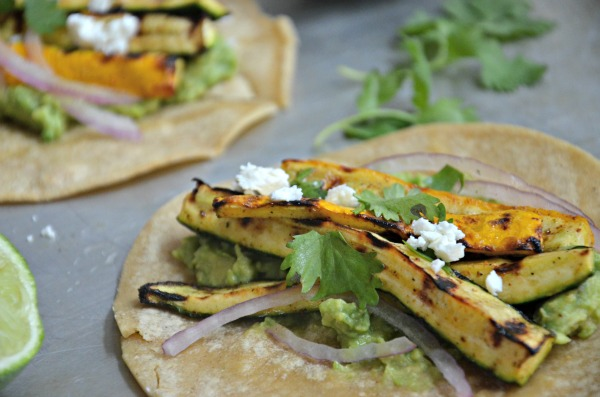 Grilled Zucchini & Yellow Squash Tacos, www.mountainmamacooks.com