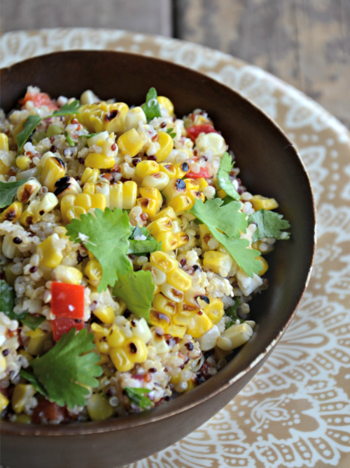 charred corn and quinoa salad, www.mountainmamacooks.com