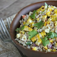 feature Grilled Corn and Quinoa Salad, www.mountainmamacooks.com