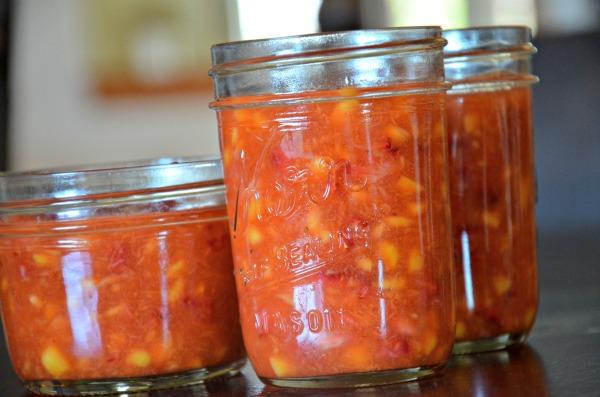mango-strawberry freezer jam recipe, www.mountainmamacooks.com