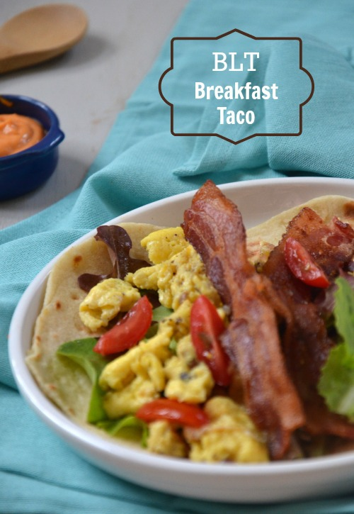 BLT Breakfast Taco, www.mountainmamacooks.com #tacotuesday
