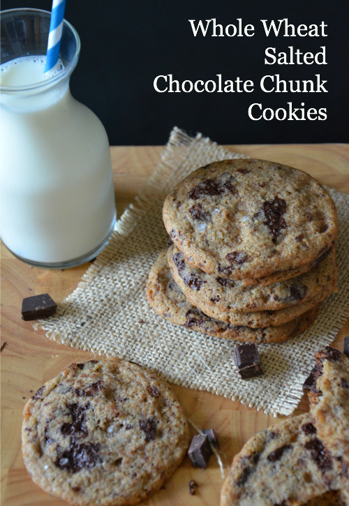 Whole Wheat Salted Chocolate Chunk Cookies, www.mountainmamacooks.com