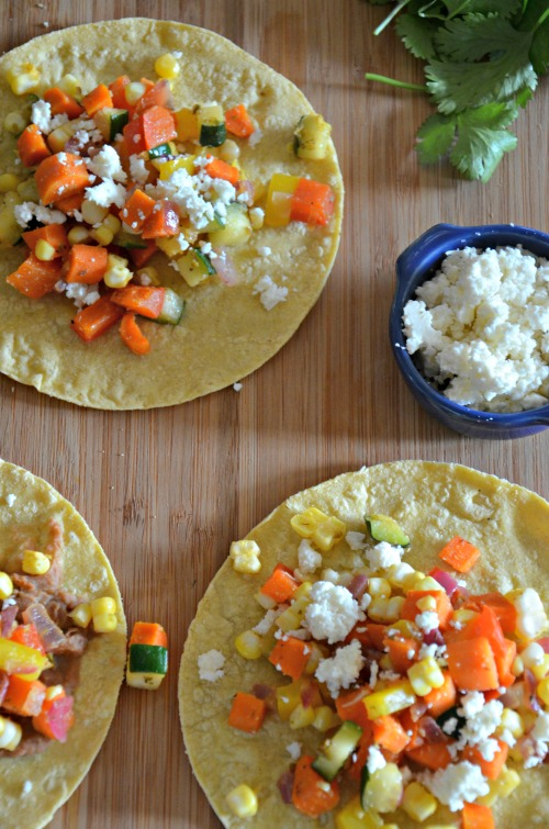 Easy Vegetarian Taco Recipe, www.mountainmamacooks.com