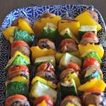 Grilled Turkey Sausage & Veggie Kabobs + a Giveaway!